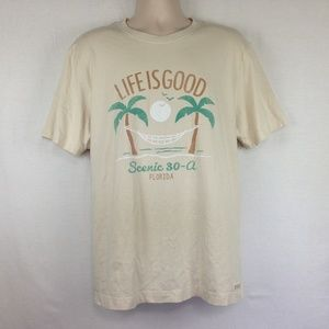 Life Is Good T-Shirt Mens Scenic 30-A Florida